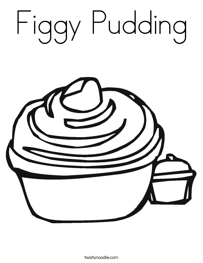 Figgy Pudding Coloring Page
