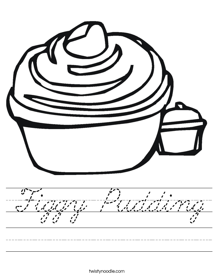 Figgy Pudding Worksheet