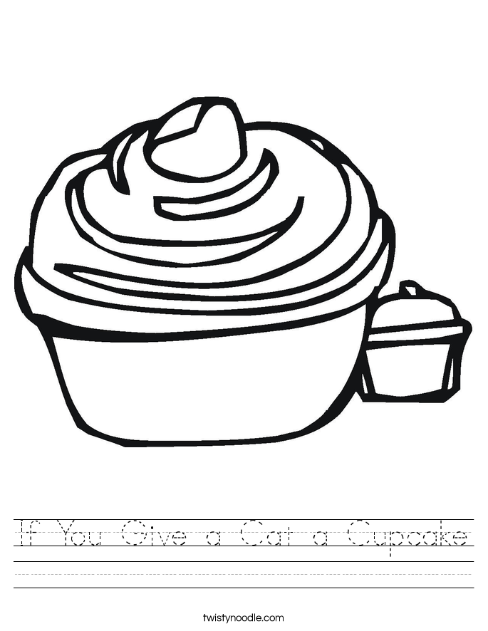 If You Give a Cat a Cupcake Worksheet