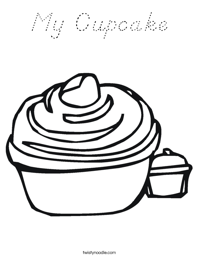 my cupcake coloring page  d'nealian  twisty noodle