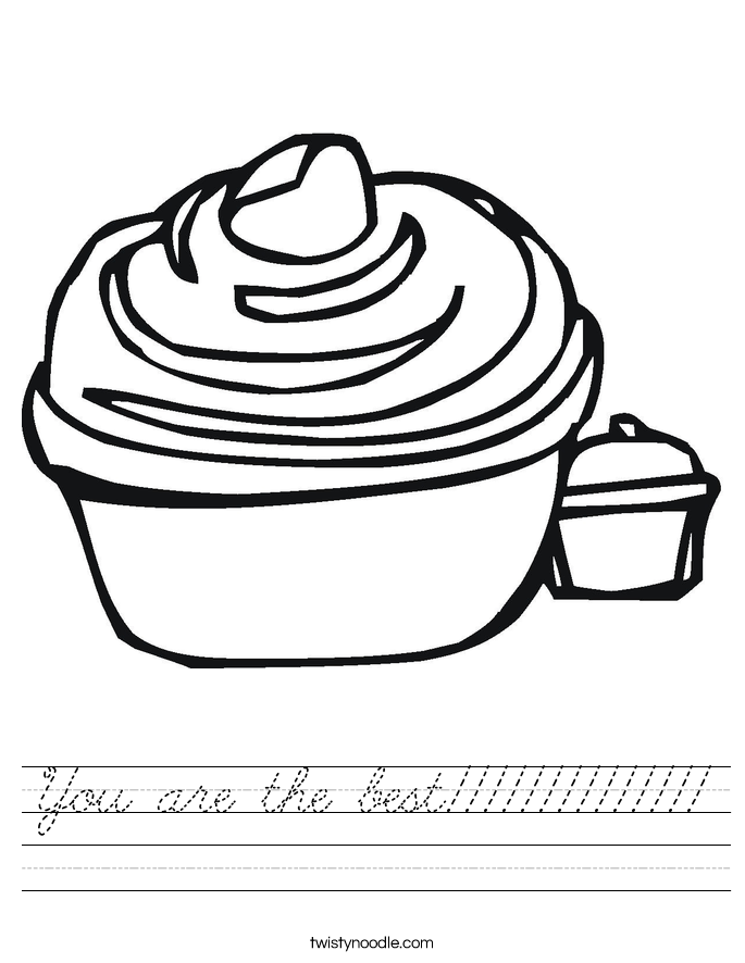 You are the best!!!!!!!!!!!!!! Worksheet