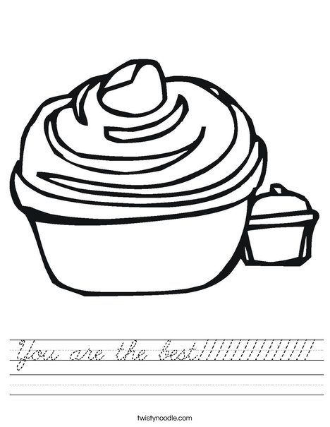 Cupcake Worksheet