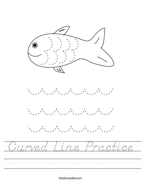 Curved Line Practice Worksheet