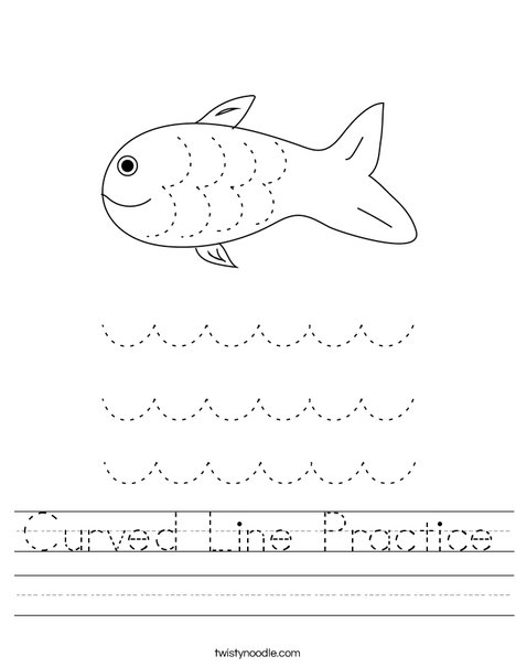 Curved Line Practice Worksheet