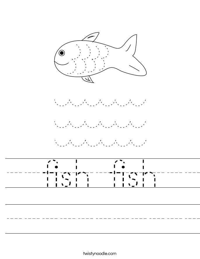 fish fish Worksheet