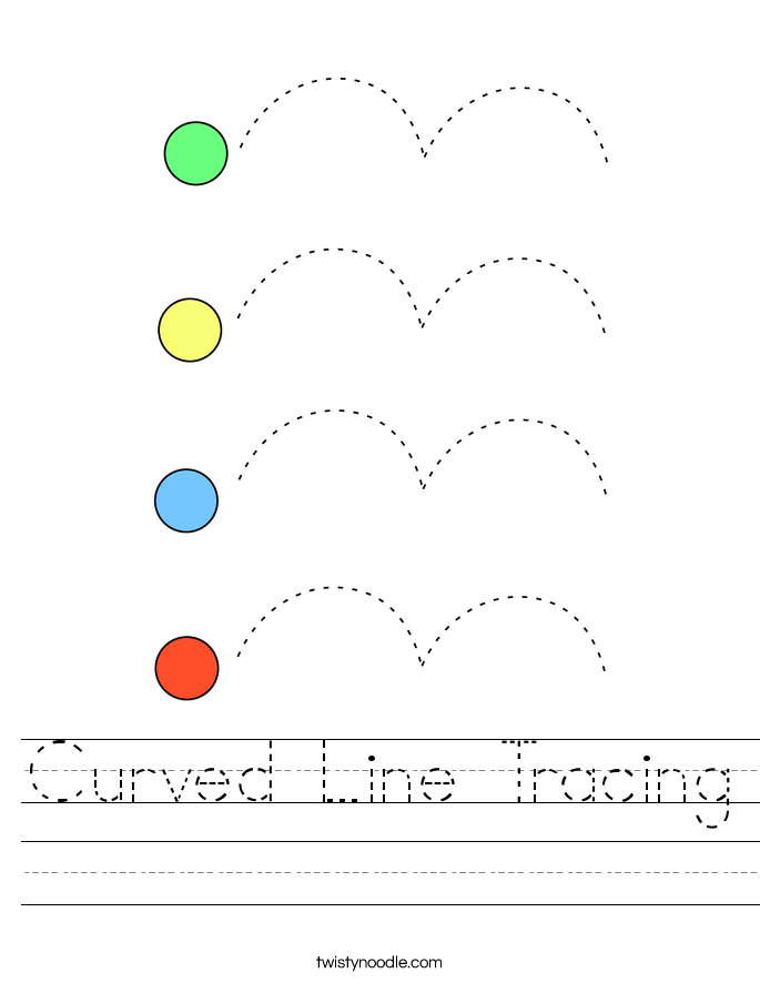 Curved Line Tracing Worksheet