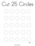 Cut 25 Circles Coloring Page