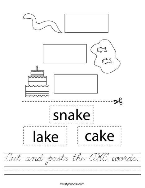 Cut and paste the AKE Words Worksheet