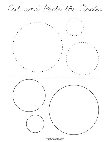 Cut and Paste the Circles Coloring Page
