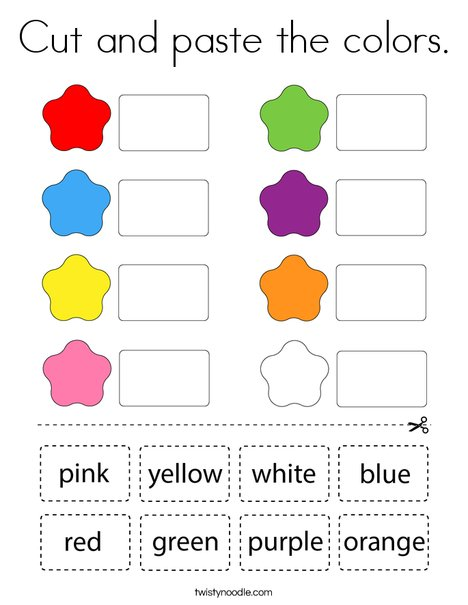Cut and paste the colors. Coloring Page