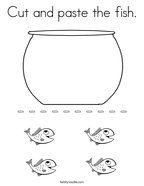 Cut and paste the fish Coloring Page
