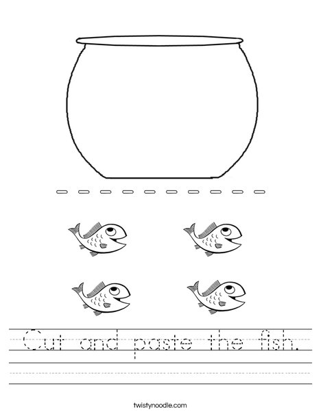 Cut and paste the fish.  Worksheet