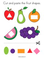 Cut and paste the fruit shapes Coloring Page