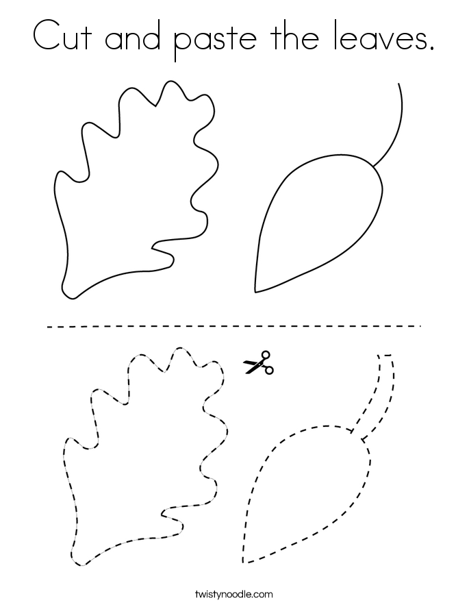 Cut and paste the leaves. Coloring Page
