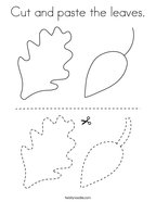 Cut and paste the leaves Coloring Page