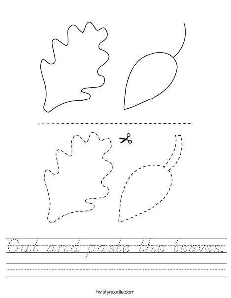 Cut and paste the leaves. Worksheet