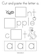 Cut and paste the letter a Coloring Page