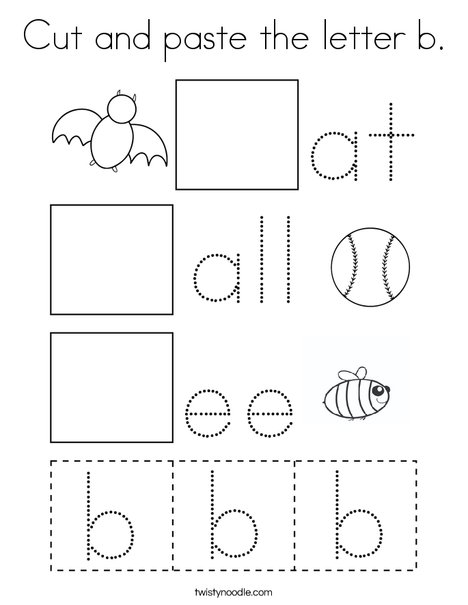 Cut and paste the letter b. Coloring Page