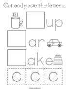 Cut and paste the letter c Coloring Page