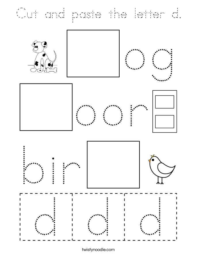 Cut and paste the letter d. Coloring Page