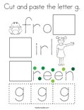 Cut and paste the letter g. Coloring Page