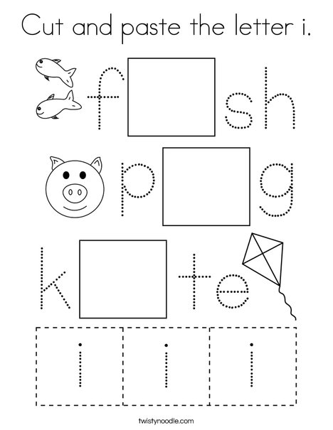 Cut and paste the letter i. Coloring Page