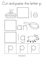 Cut and paste the letter p Coloring Page