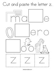 Cut and paste the letter z Coloring Page