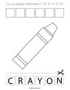 Cut and paste the letters C-R-A-Y-O-N Coloring Page