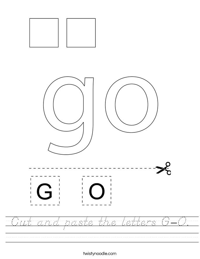 Cut and paste the letters G-O. Worksheet