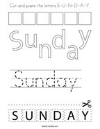 cut and paste the letters s u n d a y coloring page png 144x187 q85