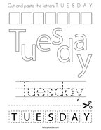 cut and paste the letters t u e s d a y coloring page png 144x187 q85