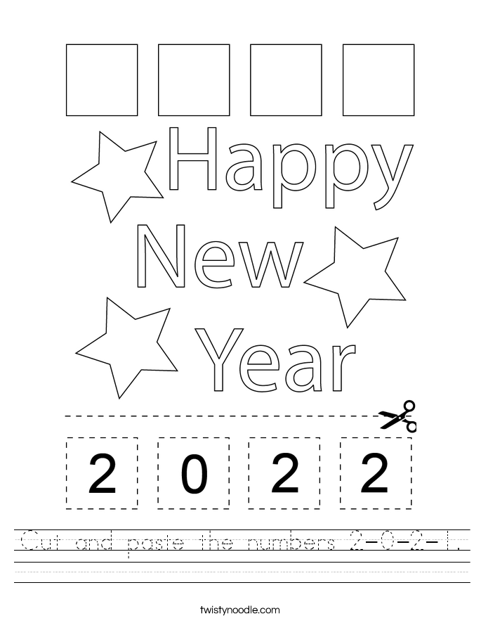 Cut and paste the numbers 2-0-2-1. Worksheet