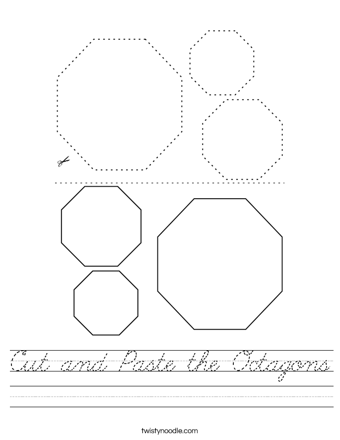 Cut and Paste the Octagons Worksheet