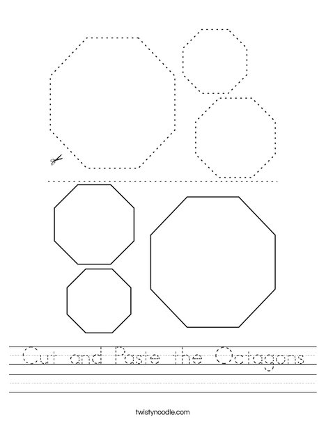 Cut and Paste the Octagons. Worksheet