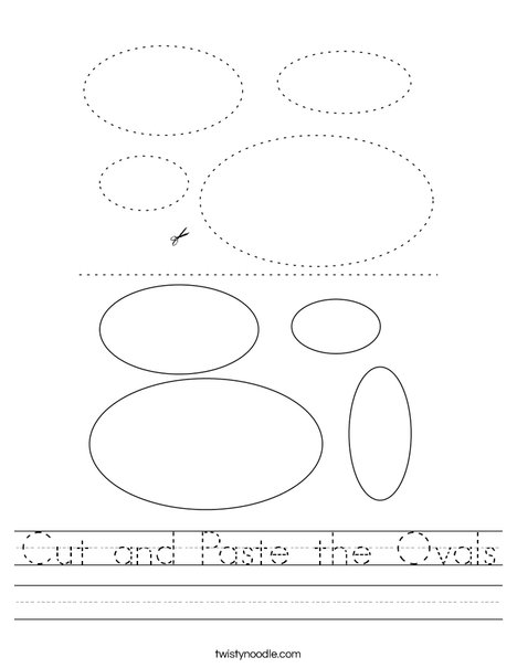 Cut and Paste the Ovals Worksheet