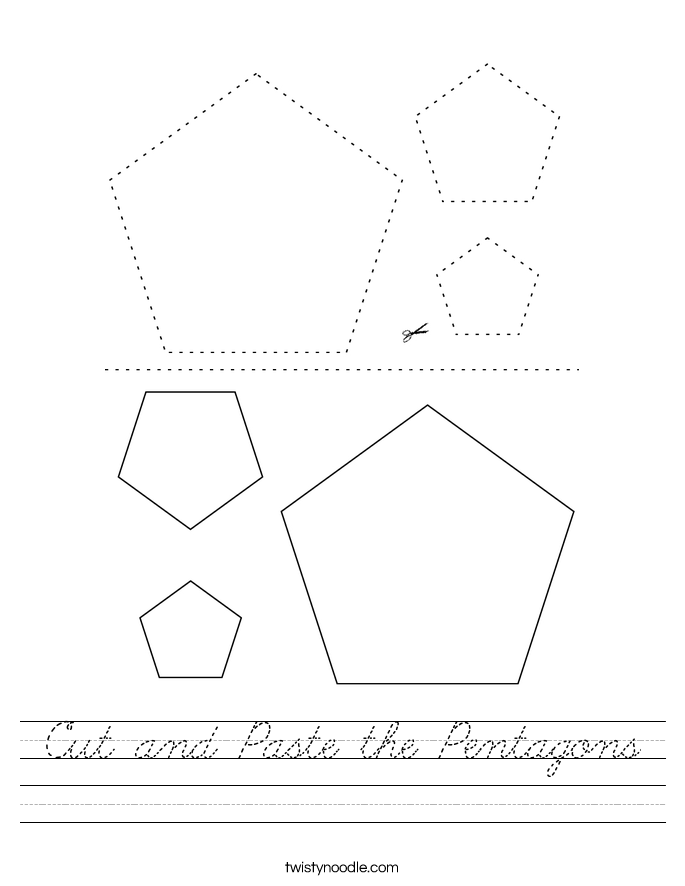 Cut and Paste the Pentagons Worksheet
