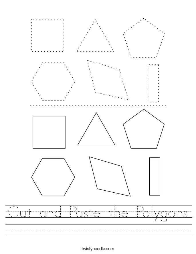 Cut and Paste the Polygons Worksheet
