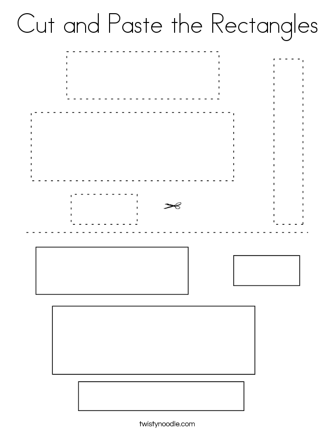 Cut and Paste the Rectangles Coloring Page