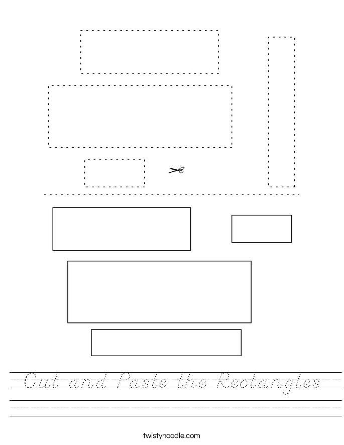 Cut and Paste the Rectangles Worksheet