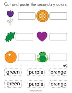 Cut and paste the secondary colors Coloring Page