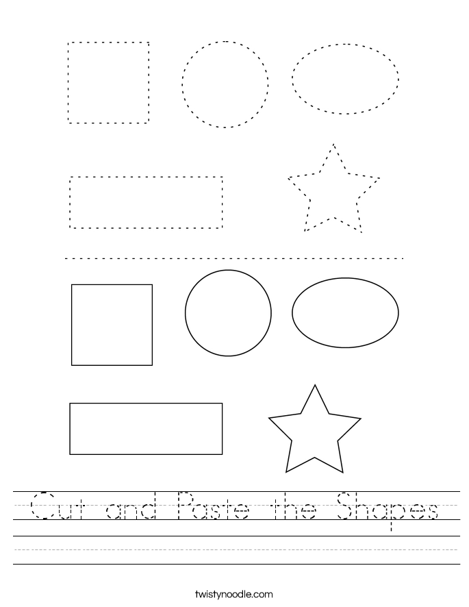Cut and Paste the Shapes Worksheet