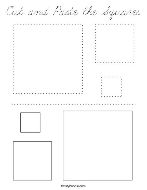 Cut and Paste the Squares Coloring Page
