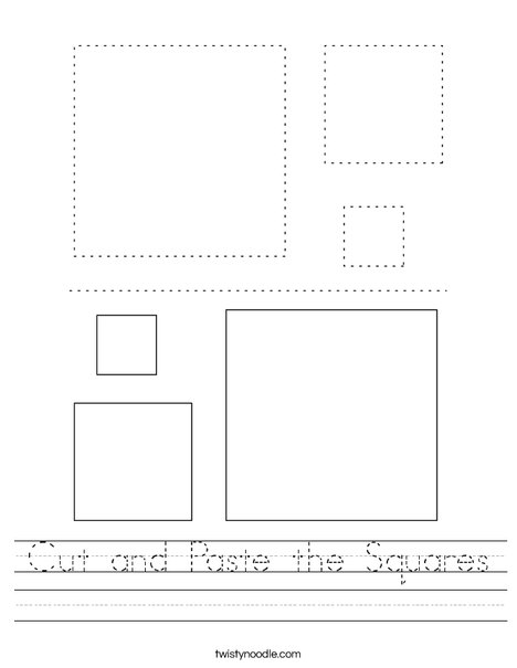 Cut and Paste the Squares Worksheet