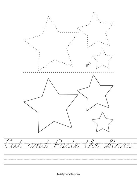 Cut and Paste the Stars Worksheet