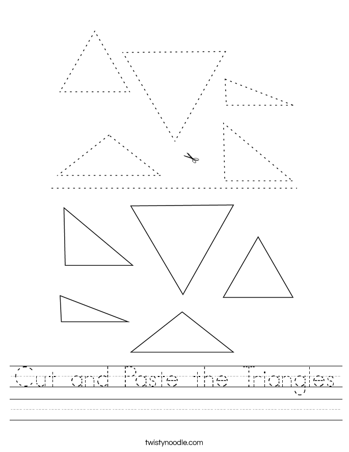 Cut and Paste the Triangles Worksheet