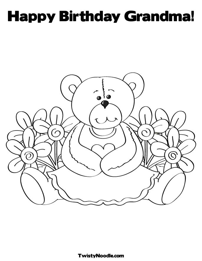 birthday grandmother coloring pages - photo#3