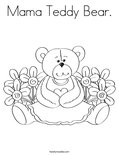 Mama Teddy Bear.Coloring Page
