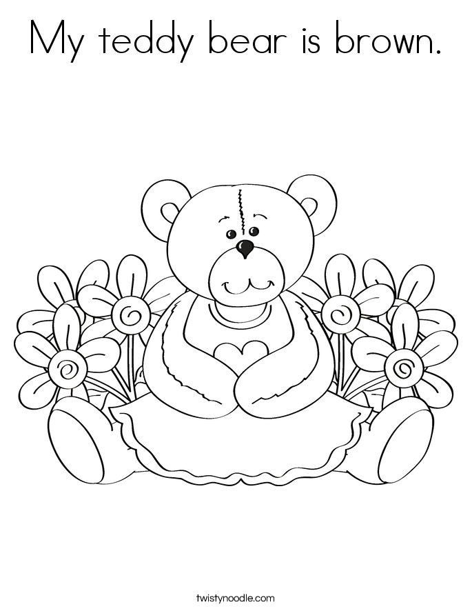Teddy Bear Coloring Pages Printable Teddy Bear Coloring Pages For