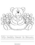 My teddy bear is brown. Worksheet